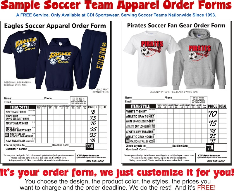 Risk free apparel soccer sportswear see sample order forms publicscrutiny Choice Image