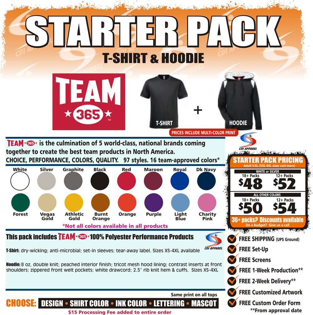 Starter-Team-Pack-Custom-T-Shirt-Hoodie-Sweatshirt-Hooded-Team-365-Sportswear