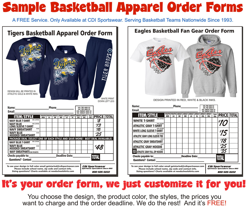 See Sample Order Forms