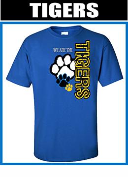free sample Spiritwear shirt tigers