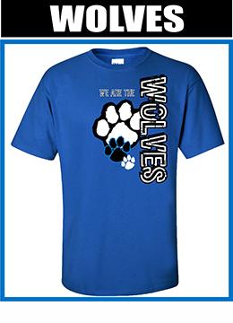 free sample Spiritwear shirt Wolves