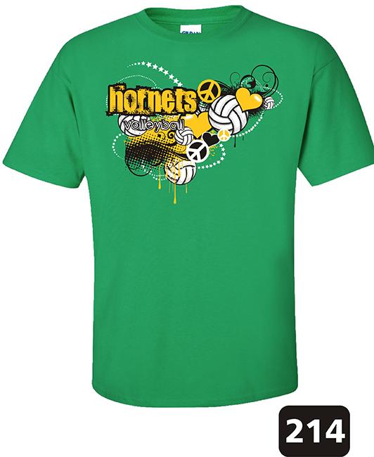 volleyball t shirt design 214